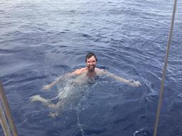 Dave got his wish - swimming in the middle of the ocean!